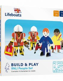 eco friendly toy set life boat people in packaging