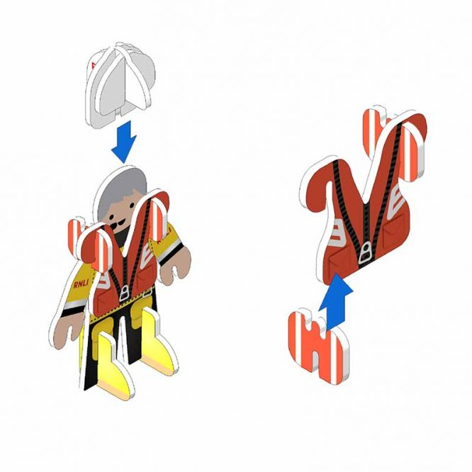 build and play eco friendly toy set rnli lifeboat people