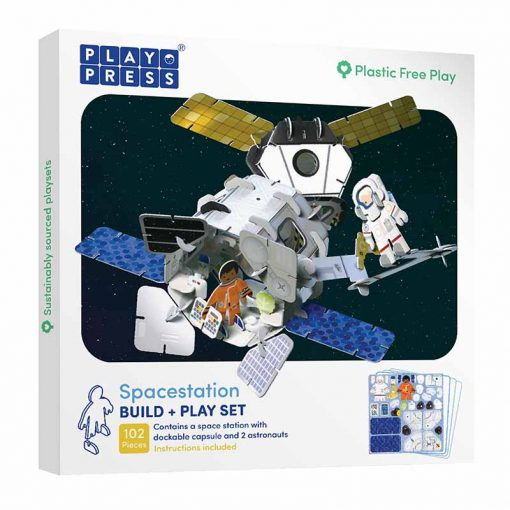 plastic free toy set space station