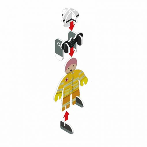 build and play fireman plastic free toy set