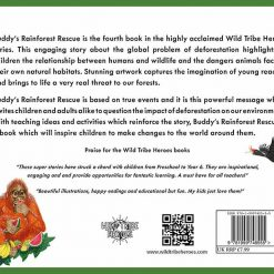 buddys rainforest rescue children's book back page