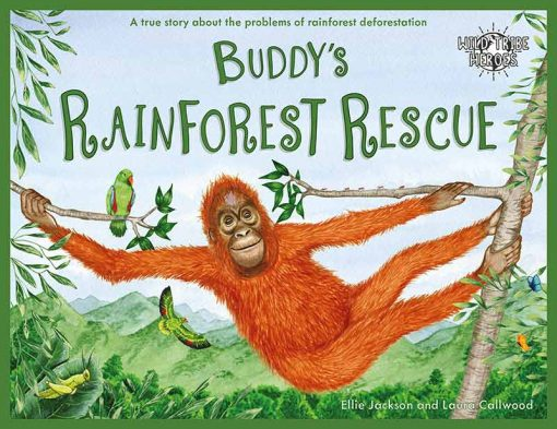 environmental children's book about buddys rainforest rescue