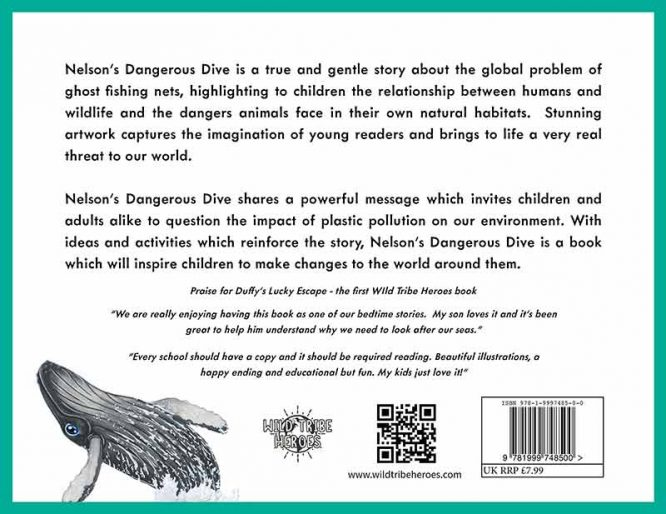 nelsons dangerous dive children's book back page