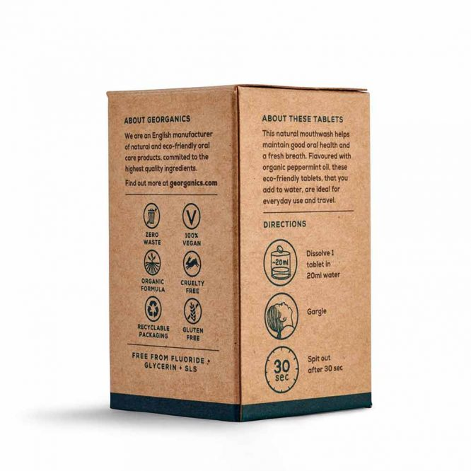 packaging for mouthwash tablets english peppermint