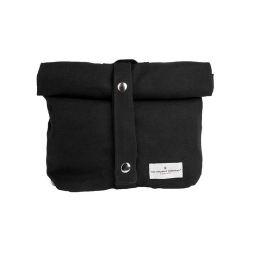 canvas lunch bag in black