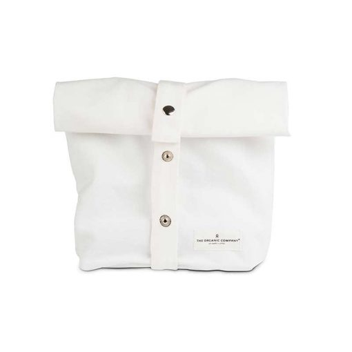 organic cotton bag for lunch in white