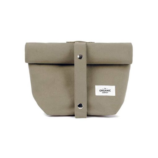 canvas lunch bag in clay colour