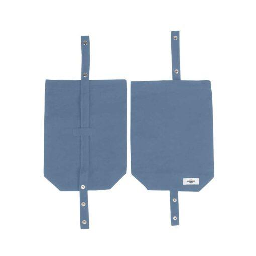 grey blue organic cotton canvas lunch bag
