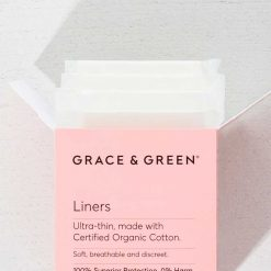 organic cotton liners in pink box