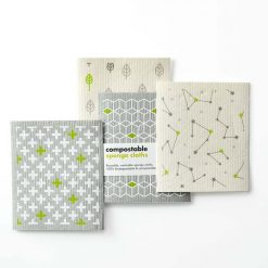 eco friendly kitchen cloths in 2 prints