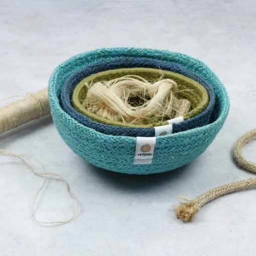 fabric bowls nested inside one another