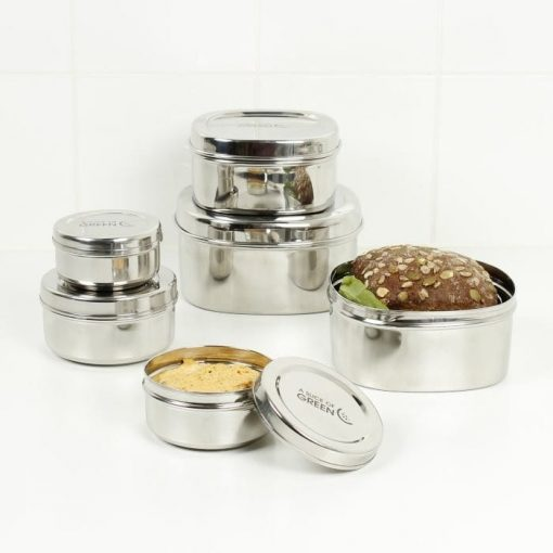 Round Stainless Steel Container set