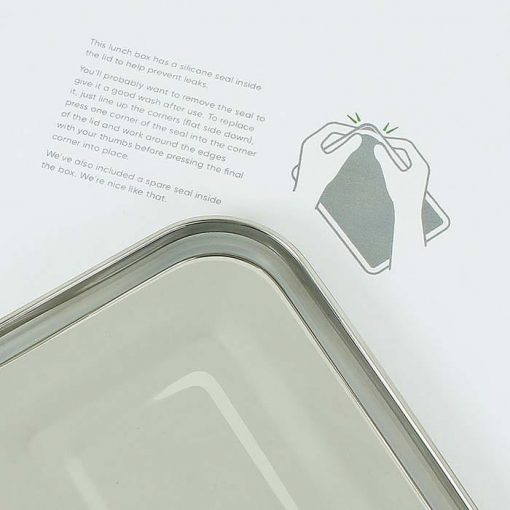 leak resistant lunch box silicone seal