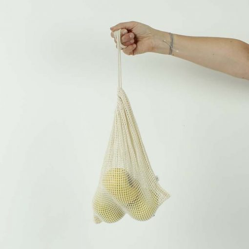 Cotton Mesh Produce Bag with drawstring