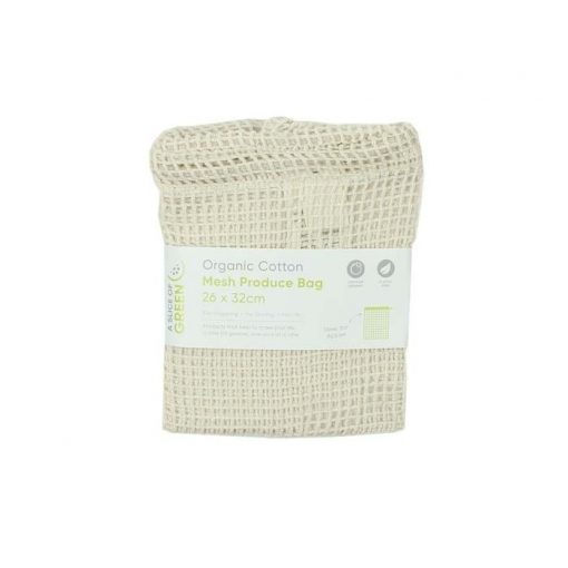 Cotton Mesh Produce Bags in cardboard packaging