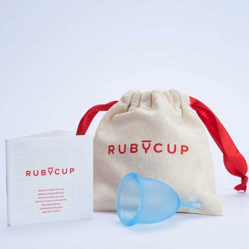 ruby cup menstrual cup in blue
