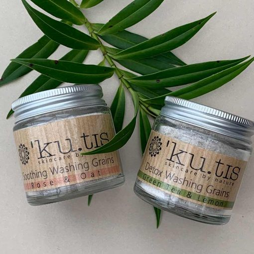 plastic free face wash in two scents