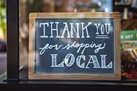 thanks for shopping local sign