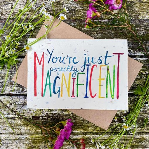 perfectly magnificent print handmade card