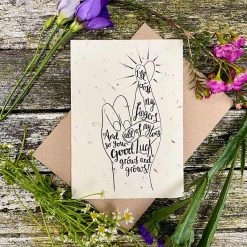 plantable seed card with good luck message
