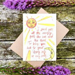 plantable wildflower card with get well message