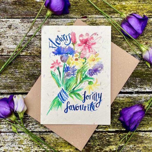 flowers for my fav plantable card