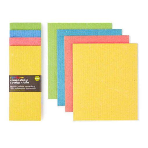 2 sets of biodegradable sponge cloths