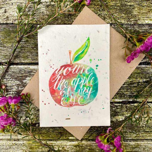 apple of my eye plantable wildflower card