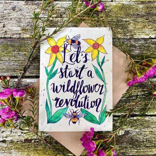 wild flower card lets start a wildflower revolution
