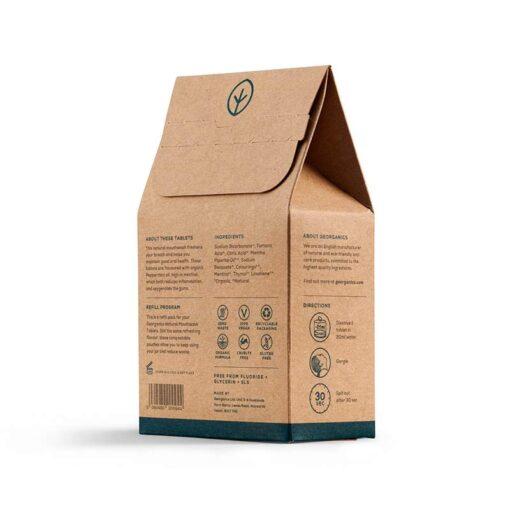 mouthwash tablets in cardboard packaging