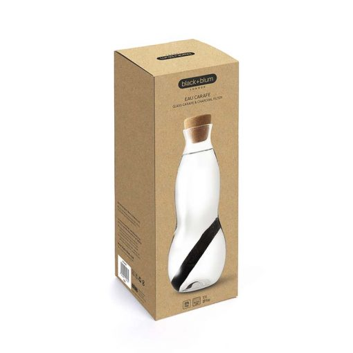 glass carafe in packaging
