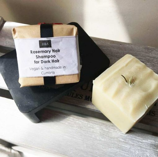 solid shampoo bar with rosemary