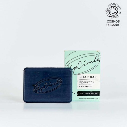 organic charcoal soap bar product image