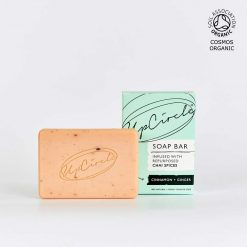 organic soap bar next to packaging