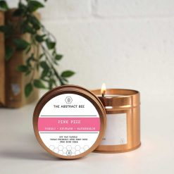 soy wax candle in copper tin