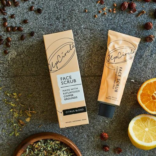 coffee face scrub with oranges and lemons