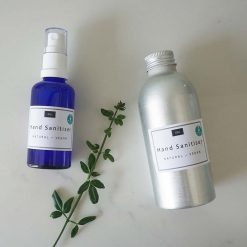natural hand sanitiser spray with refill