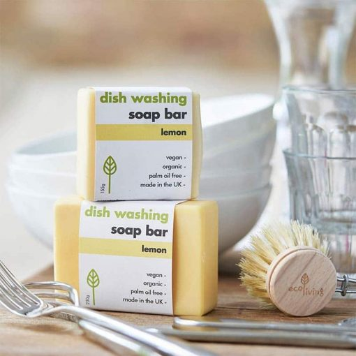 two eco friendly washing up bars