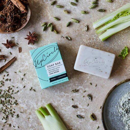 Organic Chai Soap Bar lifestyle shot