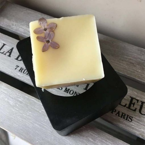 normal hair conditioner bar on a wooden crate