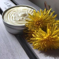 natural body balm in aluminium tin