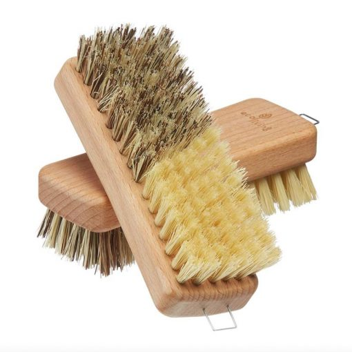 sustainable vegetable brush made from wood