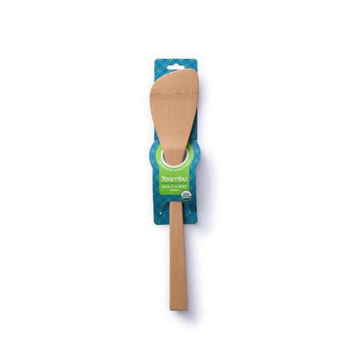 bamboo spatula in packaging