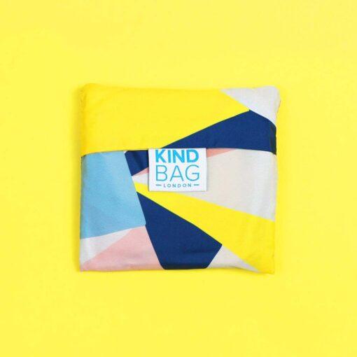 reusable shopping bag folded up