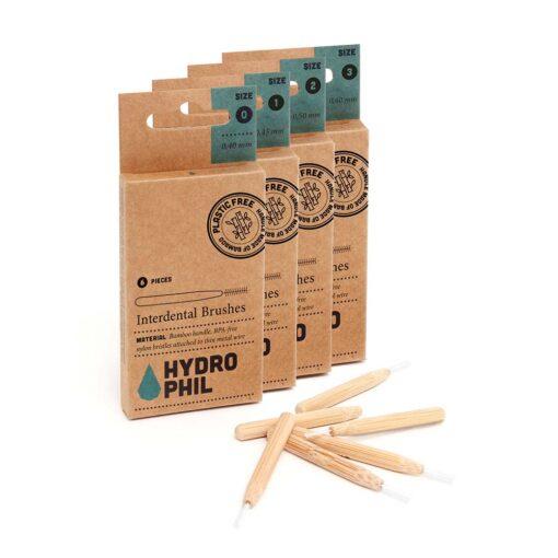 4 packs of bamboo interdental brushes