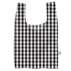 gingham print reusable shopping bag