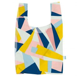 reusable shopping bag with mosaic print