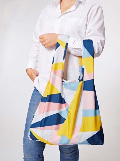 mosaic reusable shopping bag