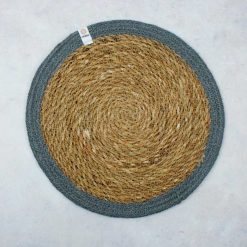 tablemat with grey jute border