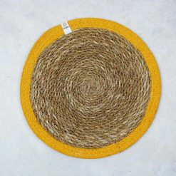 yellow tablemat
